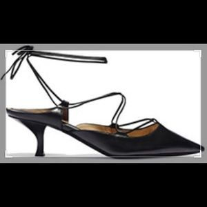 Micheal Kors Collection Black Kitten Heel Shoes